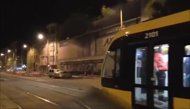 Watch and share The World's Longest Tram In Budapest - CAF - Die Weltweit Längste Straßenbahn GIFs on Gfycat