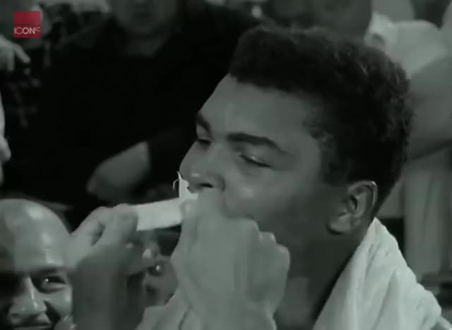 Watch Muhammad Ali engaging in some of his famous trash talk GIF on Gfycat. Discover more Cassius Clay, Muhammad Ali, boxer, boxing, celebrity, footage, interview, news, sport, trash talk GIFs on Gfycat
