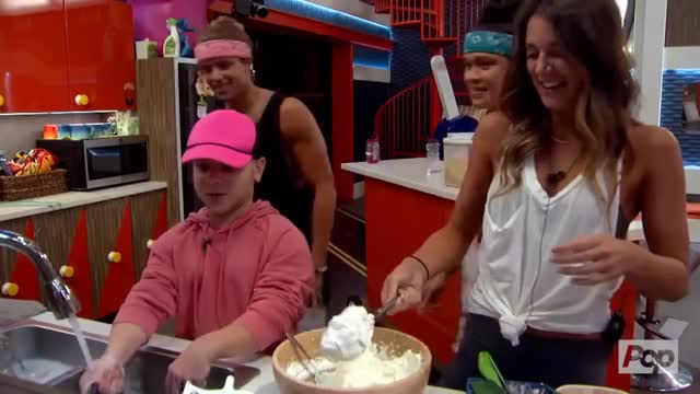 Watch POP whipped cream fight GIF on Gfycat. Discover more bb20, bbad, houseguests GIFs on Gfycat