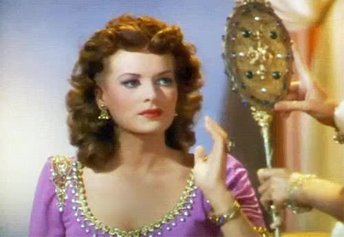 Watch this trending GIF on Gfycat. Discover more 1940s, classic film, classic movies, gif, glamour, happy birthday maureen!, maureen o'hara, my gif, nostalgia, old movies, retro, sindbad the sailor, technicolor, vintage gif GIFs on Gfycat