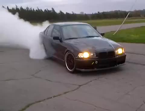 Watch and share Burnout Drift Bmw GIFs on Gfycat