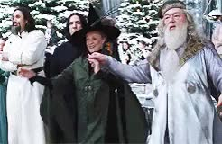 Watch and share Minerva Mcgonagall GIFs and Albus Dumbledore GIFs on Gfycat