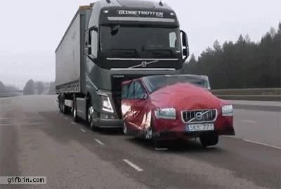 Watch and share Reverse Volvo Truck Emergency Brake GIFs on Gfycat