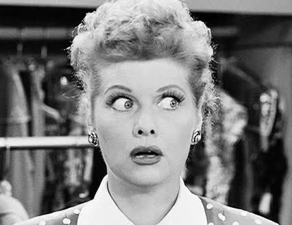 confused, confusion, cute, eye, funny, lucille ball, lucy, not, question, roll, sure, think, thought, wait, what, Confused Lucy GIFs