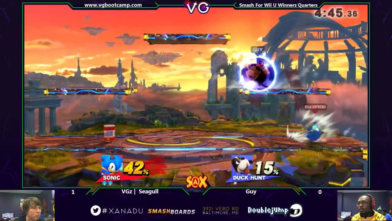 crazyhand, How does Sonic jump across the stage like he does twice in this gif? I can't figure out the inputs. (reddit) GIFs
