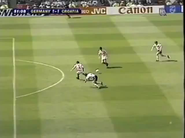 Watch Suker - Croatia v Germany, 1996 GIF on Gfycat. Discover more related GIFs on Gfycat