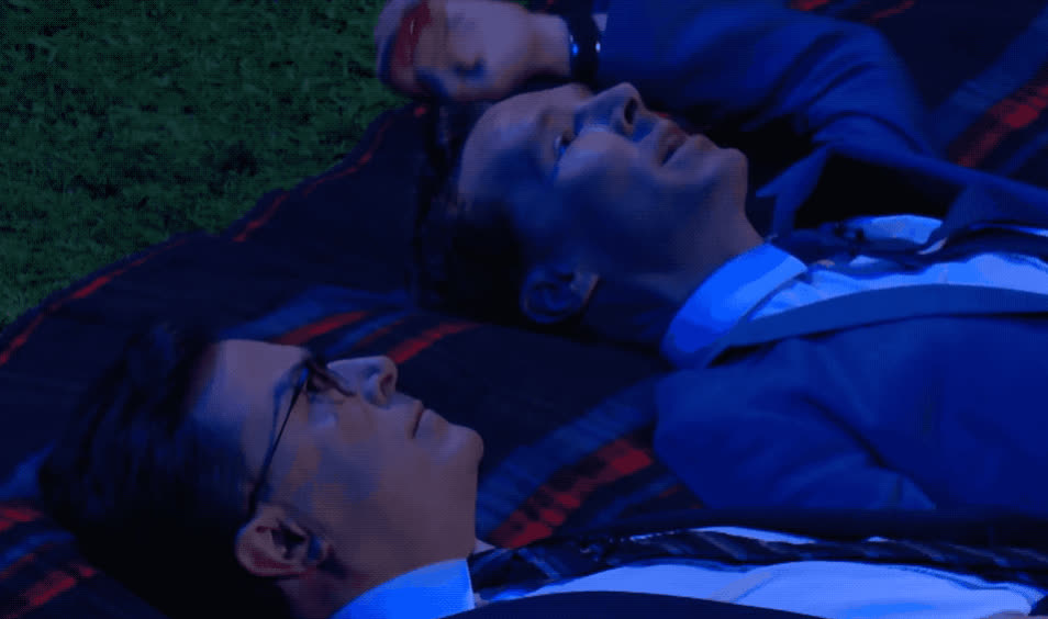 benedict, buenas, colbert, cumberbatch, dreams, goodnight, grass, lay, noches, philosophical, roof, sleep, stargazing, stars, stephen, sweet, think, tired, well, Goodnight Benedict and Stephen GIFs