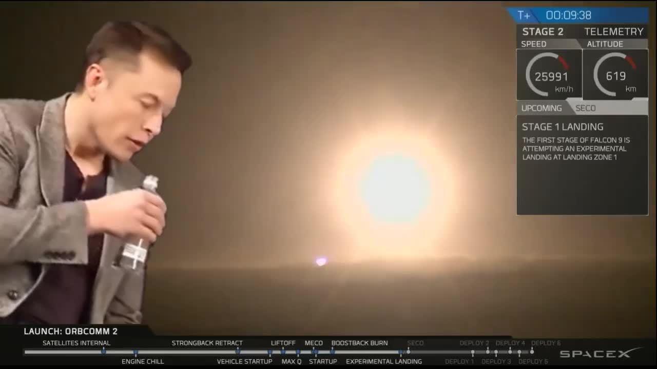 elonmusk, videos, Elon Musk reacts to Falcon Heavy launch (reddit) GIFs