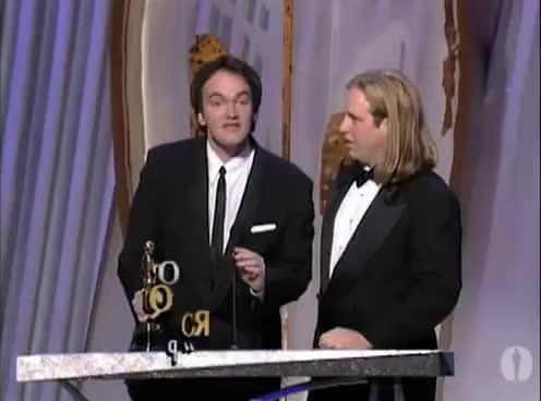 Watch and share Pulp Fiction Wins Original Screenplay: 1995 Oscars GIFs on Gfycat