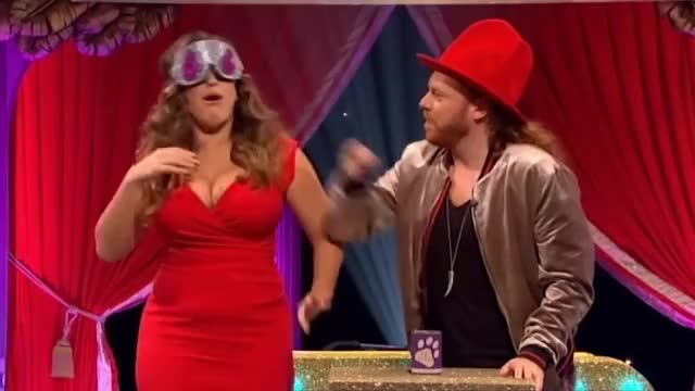 Watch and share Kelly Brook, Chris Ramsey & Anne Hegerty Take On Keith's Fingers! | Celeb Juice 2017 GIFs on Gfycat