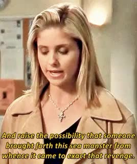Watch btvs rewatch  2x20 Go Fish  GIF on Gfycat. Discover more BTVSrewatch2015, Sarah Michelle Gellar, and embarrassed, and flattered, anthony head, btvs, buffy summers, buffy the vampire slayer, go fish, he's so proud, look at giles, mine, mtvsepicrewatch, rupert giles GIFs on Gfycat