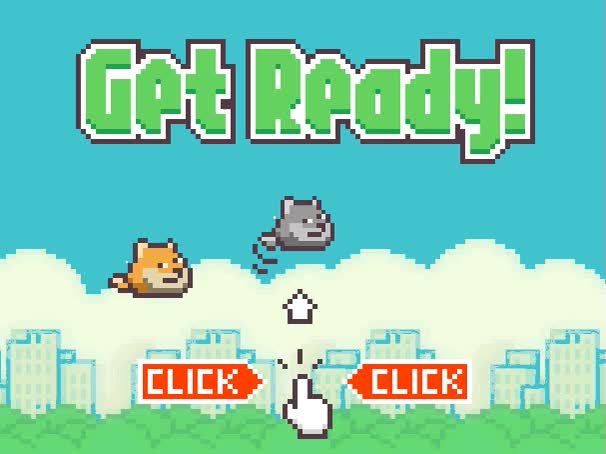 Watch and share Sad About Flappy Bird? Play Flappy Doge Instead! Such Game, Wow GIFs on Gfycat