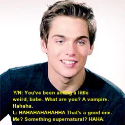Watch and share Liam Dunbar Imagine GIFs and Dylan Sprayberry Au GIFs on Gfycat