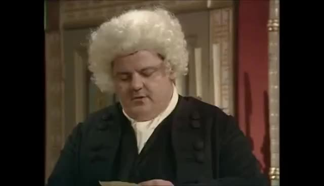 """Watch and share BlackAdder3 - Dr. Johnson Says """"Sausage"""" GIFs on Gfycat"""