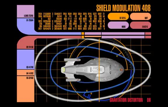 Watch and share Star Trek LCARS - Voyager Shield Modulation GIFs on Gfycat