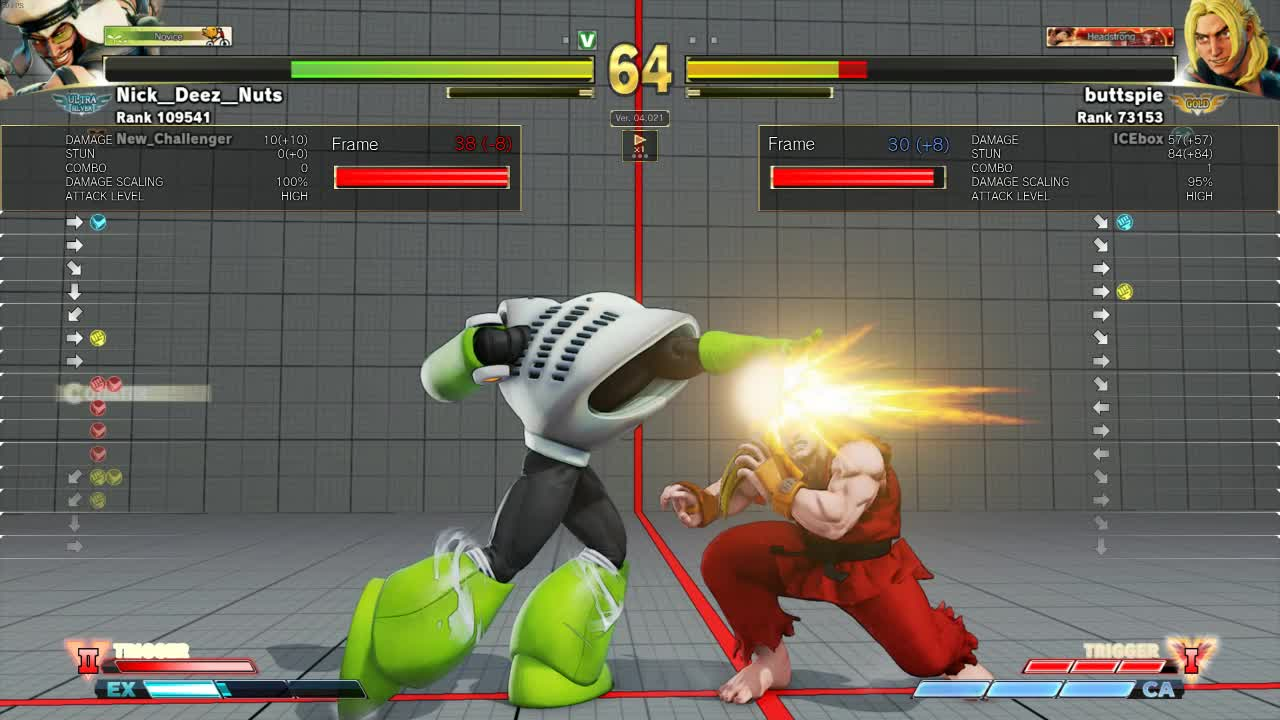 dp trade combo, ken masters, meaty dp, sfv, streetfighter, Dropped My Combo...I Mean Meaty DP Setup >_> GIFs