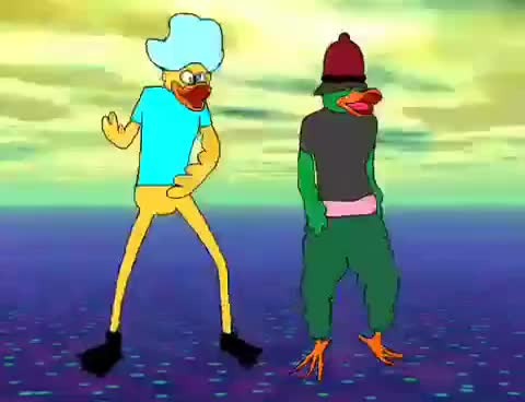 Ducks, colors, party, Raving ducks GIFs