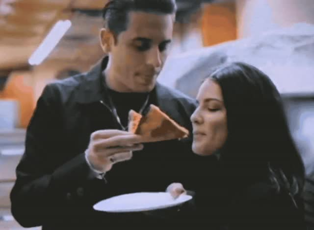Watch this food GIF by GIF Queen (@ioanna) on Gfycat. Discover more bite, cheat, couple, cute, date, eating, eazy, eazy halsey, feed me, food, halsey, hangry, him, hungry, i, lunch, meal, pizza, together, yum GIFs on Gfycat