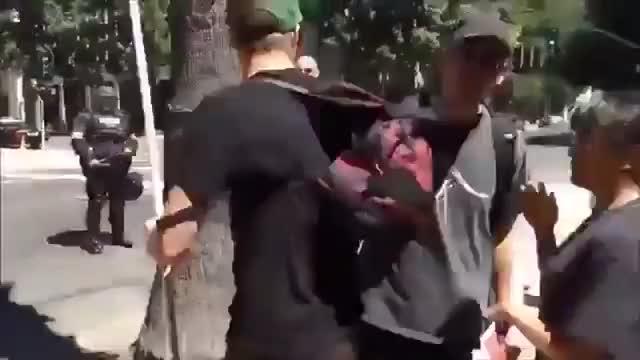 Watch Antifa Yvette Felarca Assaulting Protestor GIF on Gfycat. Discover more The_Donald, antifa, felarca GIFs on Gfycat