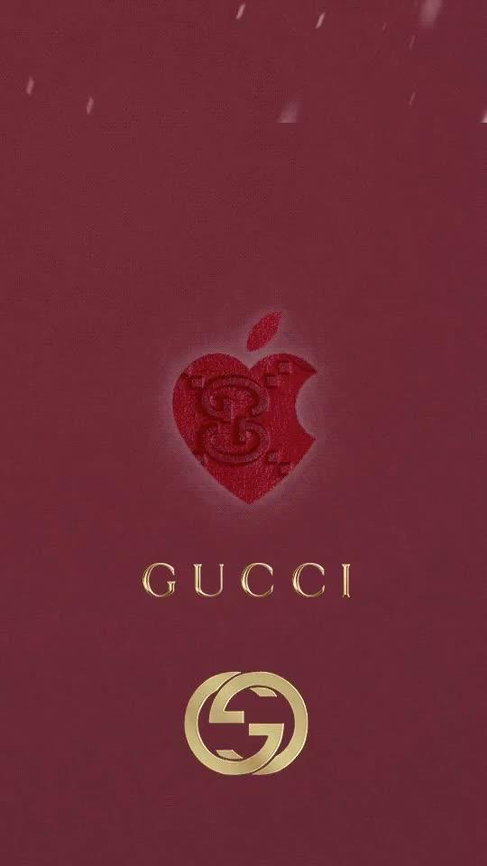 Gucci apple wallpaper GIF