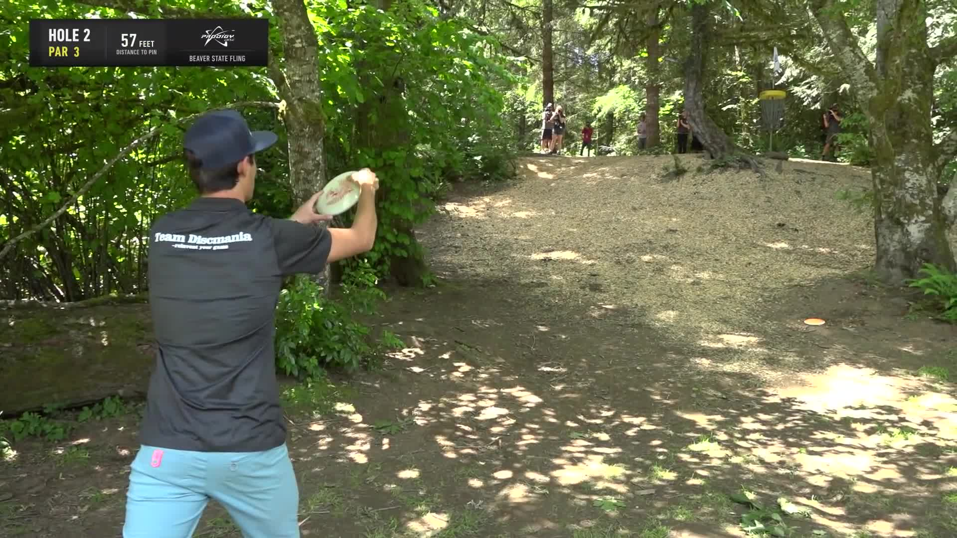 ace, bsf, dela, delaveaga, dgpt, dgwt, disc, disc golf, frolf, hole in one, masters cup, mcbeast, milo, nate sexton, nt, paul mcbeth, pdga, simon lizotte, tournament, worlds, 2019 Beaver State Fling - Final Round, Part 1- Eagle McMahon hole 2 putt GIFs