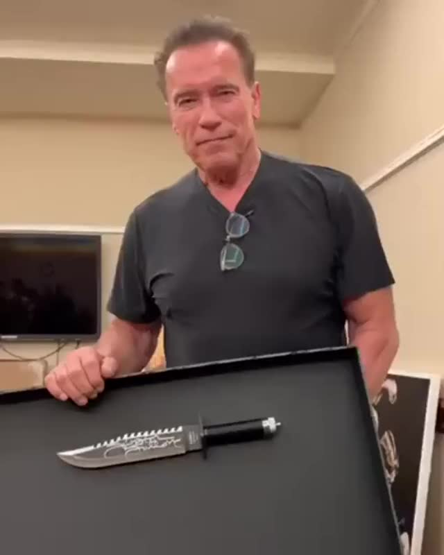 Watch and share Arnold Schwarzenegger GIFs and Knife GIFs by GB on Gfycat