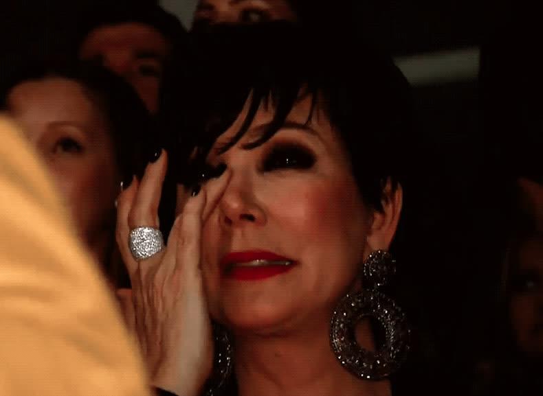 Kris Jenner, crying, dramatic, emotional, keeping up with the kardashians, kuwtk, Kris Jenner Crying GIFs