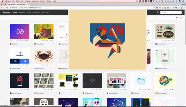 Dribbble Shot Zoom - Chrome Extension GIF | Find, Make