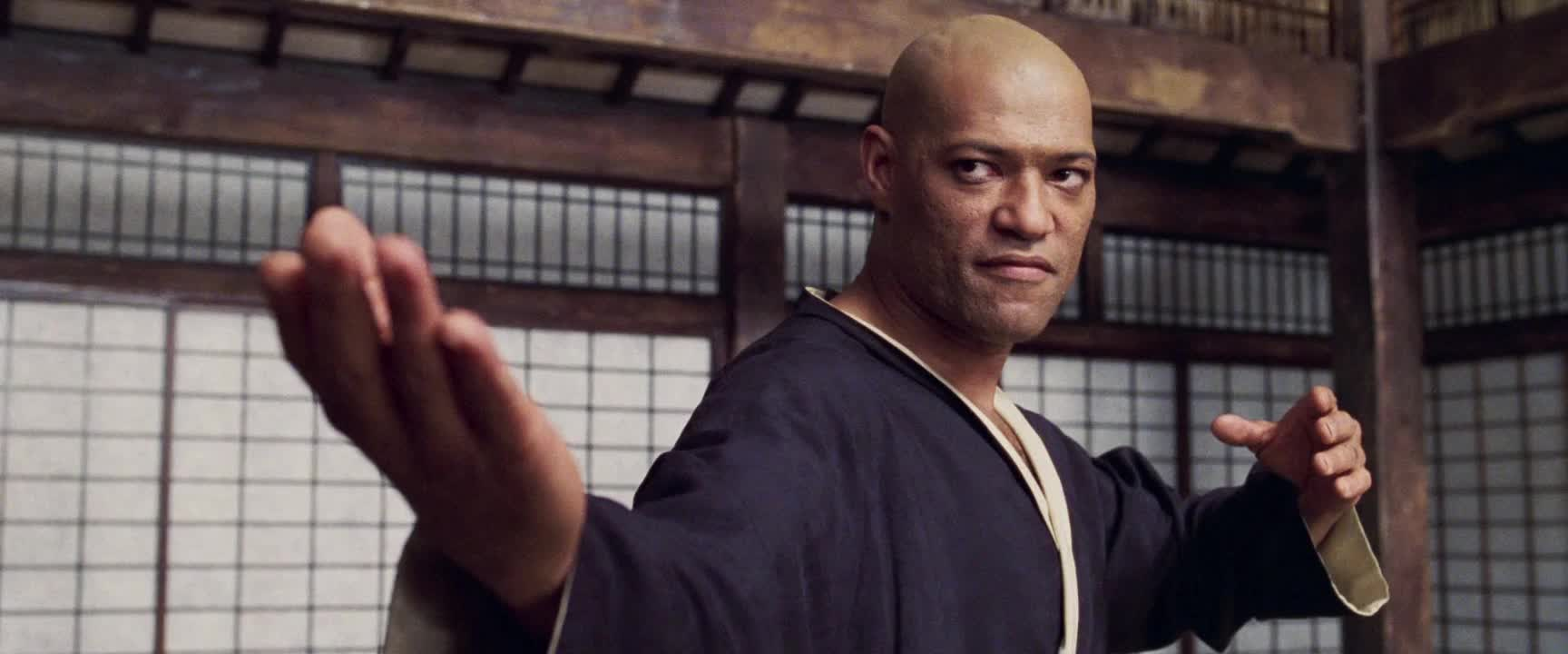 celebs, laurence fishburne, The Matrix - Come on gesture 2 GIFs
