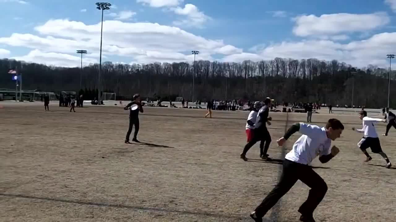 ultimate, ultimategifs, Justin Allen throwing a 50-yard flat-footed flick huck (reddit) GIFs