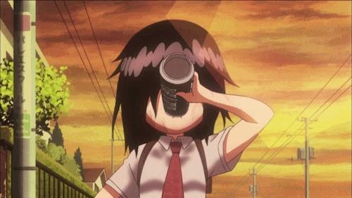 anime, cola, gif, kuroki tomoko, watamote, Life's a blast GIFs