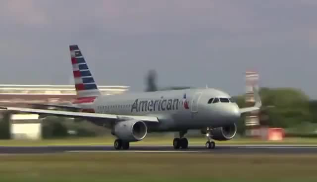 Watch and share New American Airlines A319 - Landing, Close-Ups, Take-Off GIFs on Gfycat