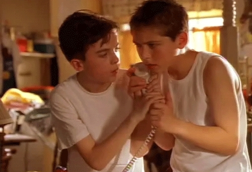 Frankie Muniz, Justin Berfield, MITM, Malcolm In The Middle, Malcolm In the Middle, Malcolm Wilkerson, Malcolm in the middle, Reese Wilkerson, brothers, tumblr, Remember Malcolm and Reese?Feeling old yet? GIFs