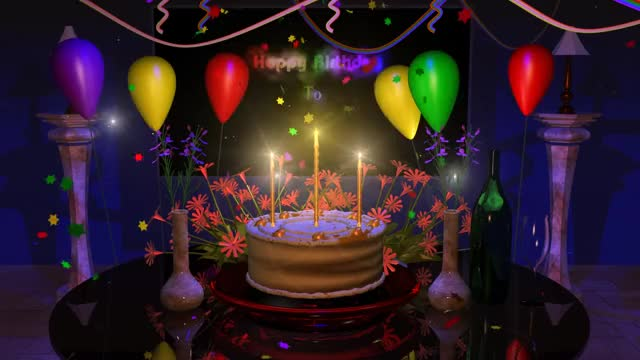 Magical Happy Birthday Animation Gif By Deebrhm Deebrhm Find