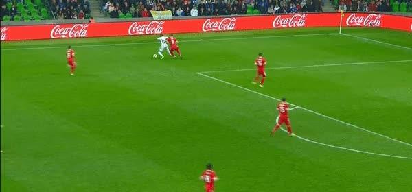 Watch and share AfricaFootballDaily - Le But Splendide De Wilfried Zaha Face À La Russie En Amical : #CIV #Russie GIFs on Gfycat