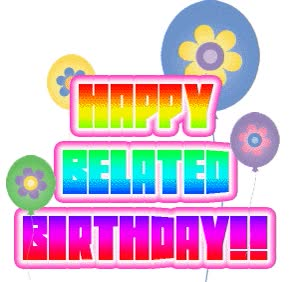 Watch and share Belated Birthday animated stickers on Gfycat