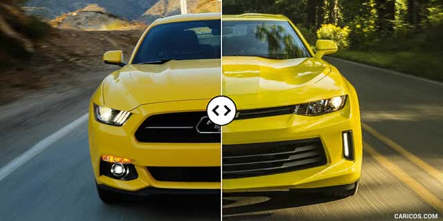 Watch and share Ford Mustang Vs. Chevrolet Camaro : Front [GIF Animation] GIFs on Gfycat
