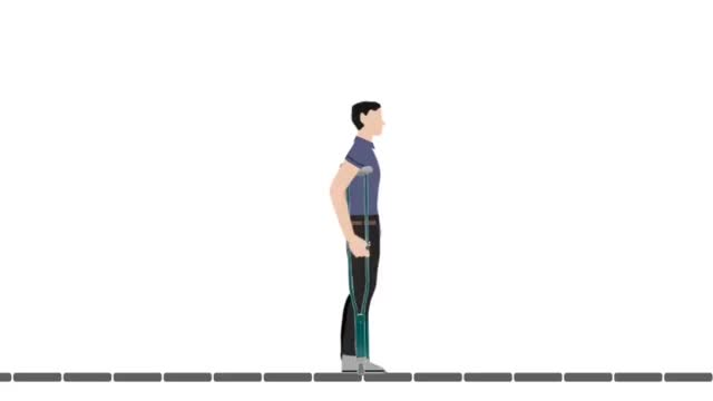 Watch and share 3-point Gait On Underarm Crutches GIFs on Gfycat