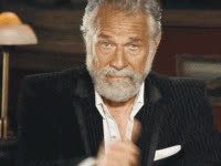 reaction, the most interesting man in the world, thumbs up, thumbs up, jonathan goldsmith, man, guy, dos equis guy GIFs