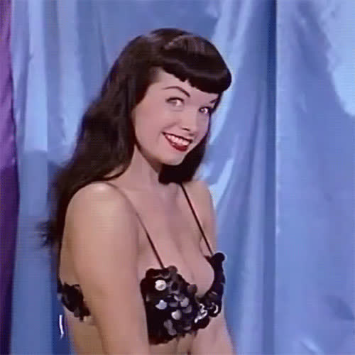 1950s, bettie page, flirt, pinup, sexy, wink, Bettie Page Wink GIFs