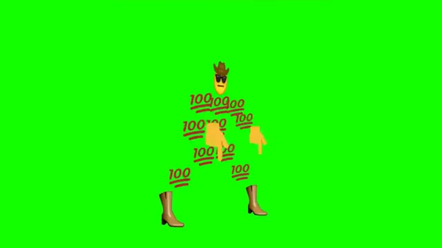 Watch and share Emoji Default Dance Green Screen GIFs by The Livery of GIFs on Gfycat
