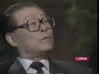 Watch and share 江泽民接受华莱士的采访, Jiang Zemin Interviewed By Wallace, CBS-60minutes GIFs on Gfycat