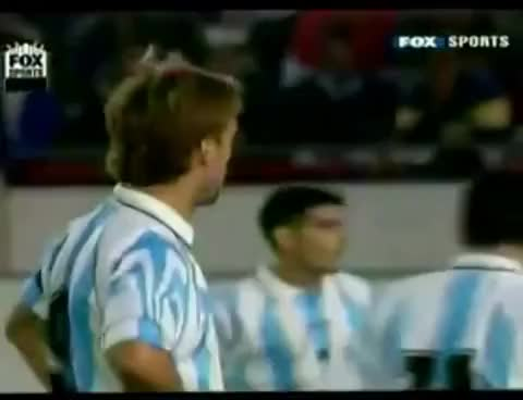 Watch and share Batistuta - Gol A Jose Luis Chilavert GIFs on Gfycat
