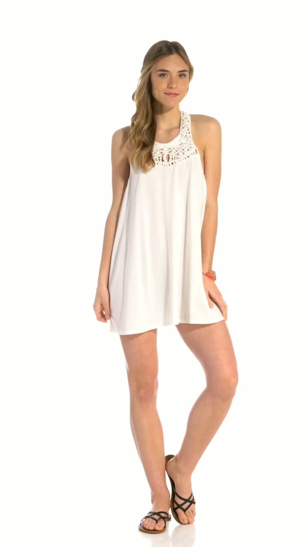 claire gerhardstein, model, modeling, swimsuit, Billabong Easy Show Knit Dress GIFs