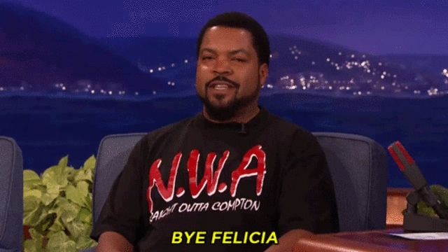 Ice Cube, Ice cubes teaches us to say 'BYE FELICIA' GIFs