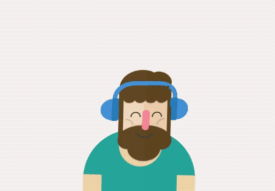 happy, headphones, hipster, lover, music, notes, rhythm, Music Lover GIFs