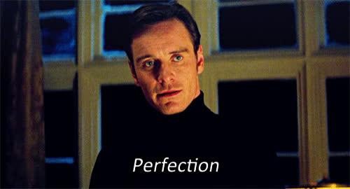 meme, michael fassbender, perfect, perfection, xmen, xmen perfection GIFs