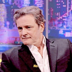 by veronica, colin firth, colinfirthedit, gif, interview, nope, the jonathan ross show, this is better, Colin Firth Daily GIFs