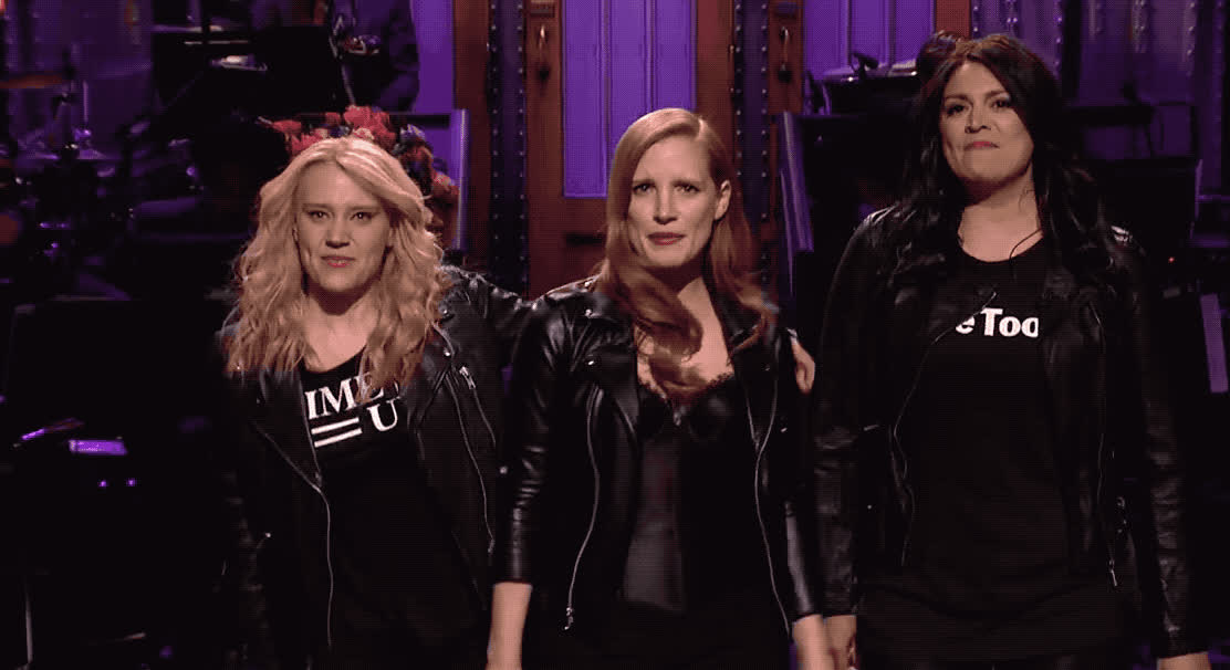 celebrate, chastain, dance, dancing, excited, girls, happy, jessica, kate, live, march, mckinnon, night, party, saturday, snl, win, women, yeah, Girls girls girls GIFs