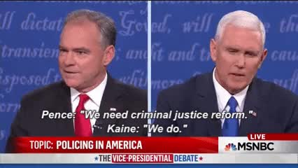 Watch and share Mike Pence GIFs and Tim Kaine GIFs on Gfycat